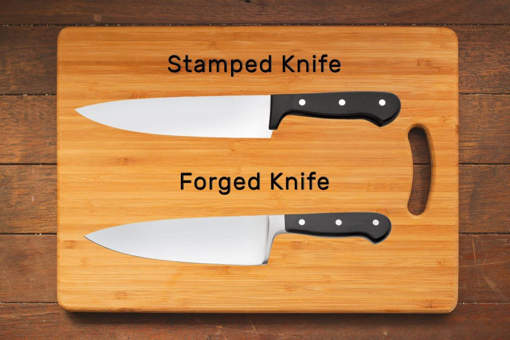 The difference between a stamped knife and a forged knife