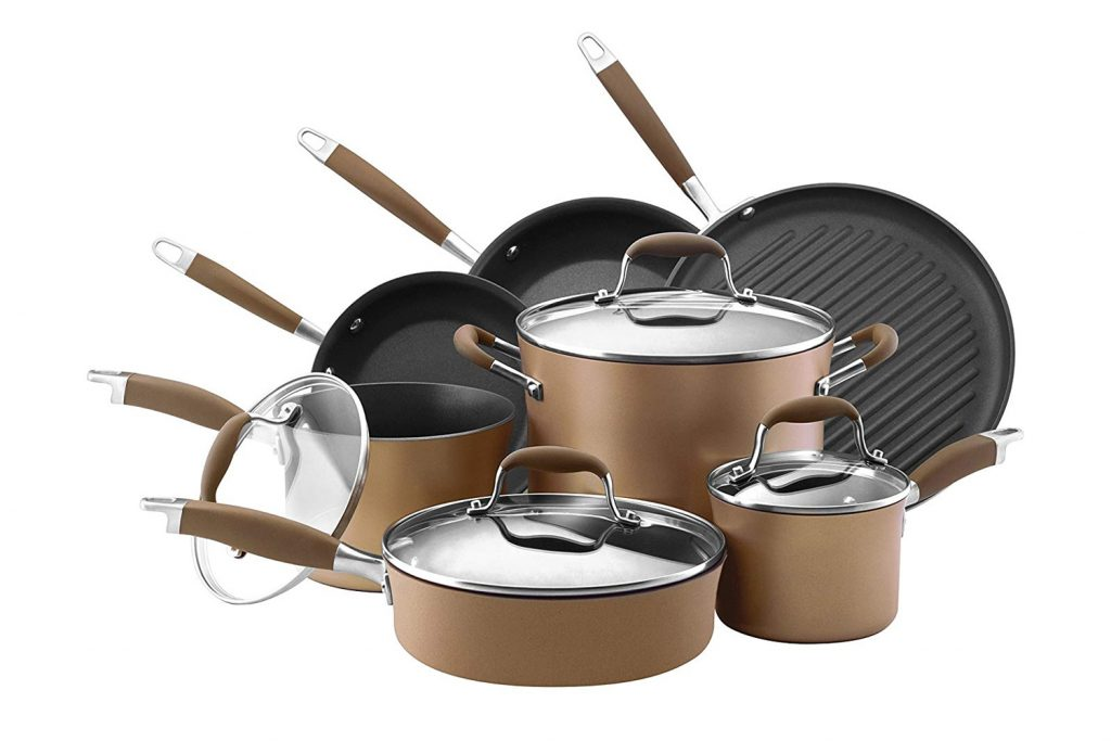 Anolon Advanced Bronze Hard-Anodized Nonstick Cookware Set