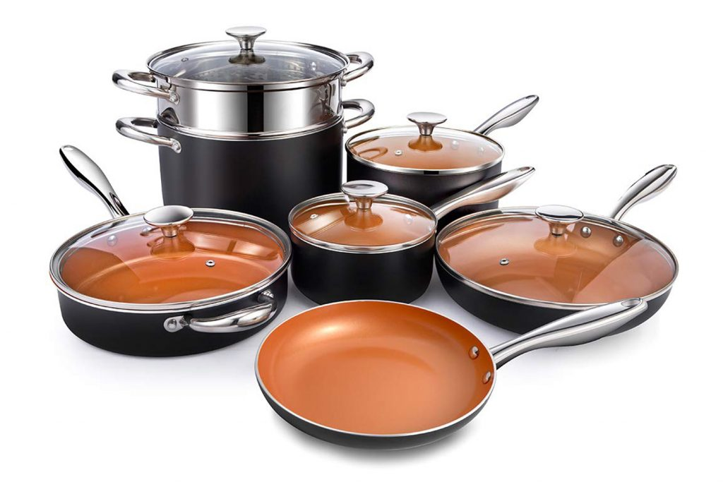 Michaelangelo Copper Ceramic Cookware Set