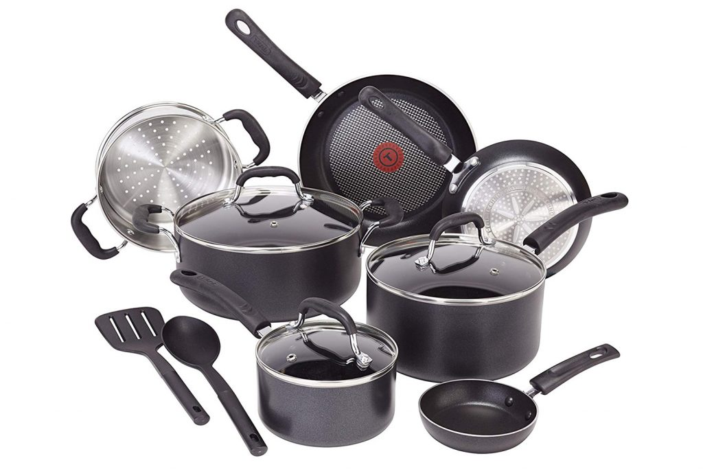 T-fal Professional Total Nonstick Thermo-Spot Heat Indicator Induction Base Cookware Set